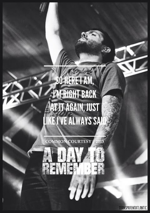 A Day To Remember Right Back At It Again Lyrics