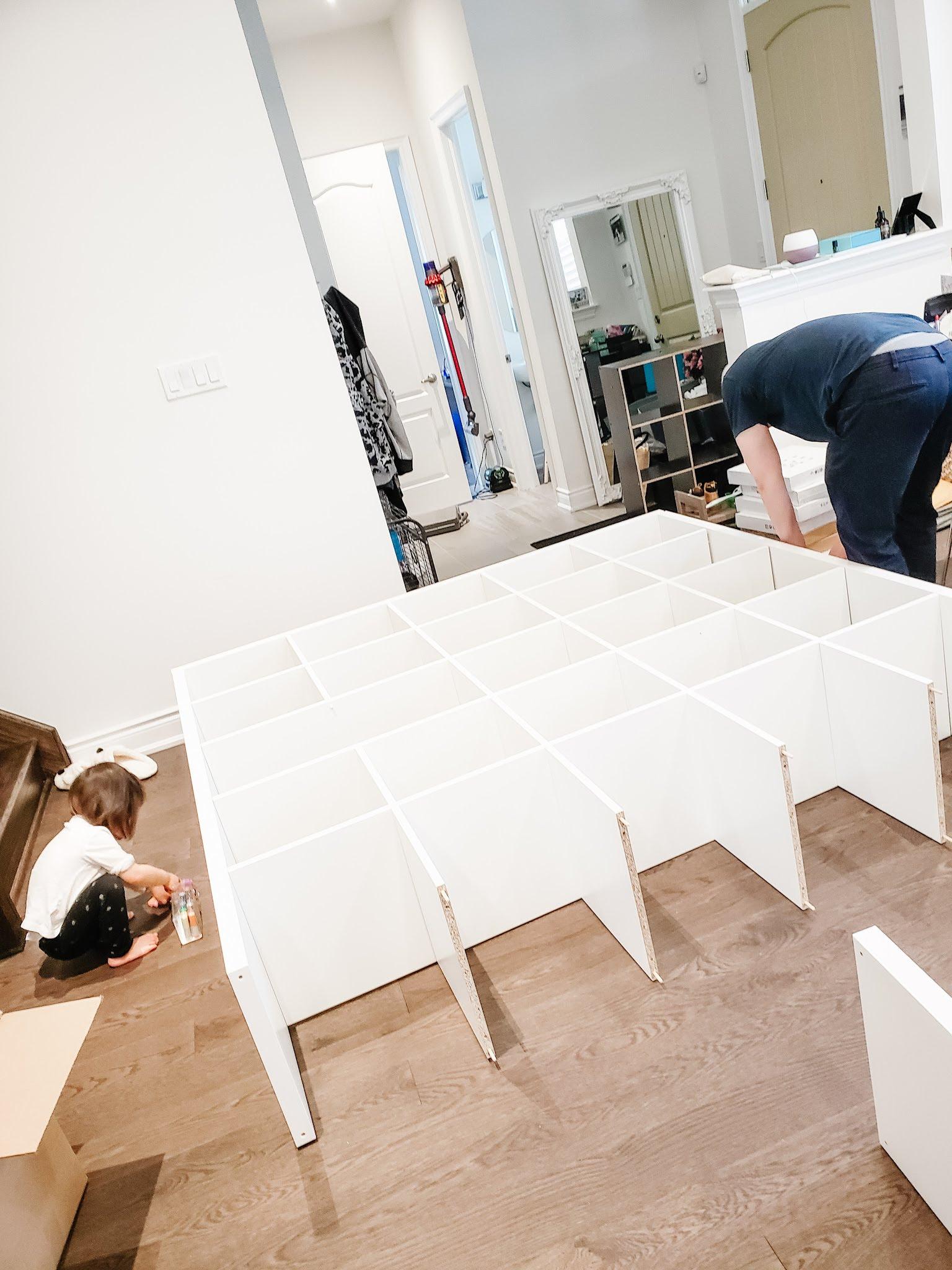 Small Craft Room Idea Ikea Kallax And Norberg Table Hack