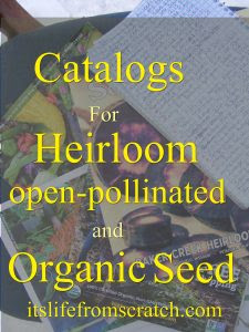 seed catalogs I recommend for heirloom, open pollinated and organic varieities.