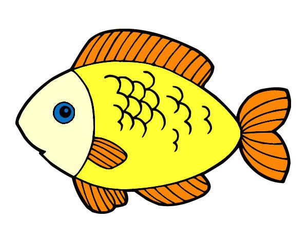Dibujo De Pescado Pintado Por Alexalbert En Dibujosnet El Día 18 09