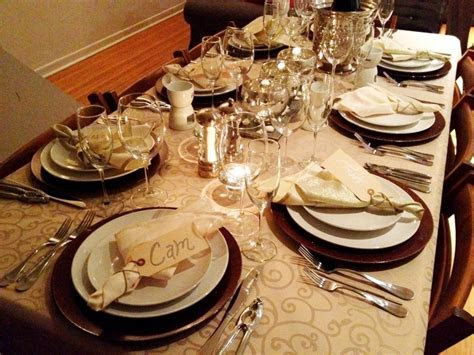 New years table setting 2013   My Happyland   New year
