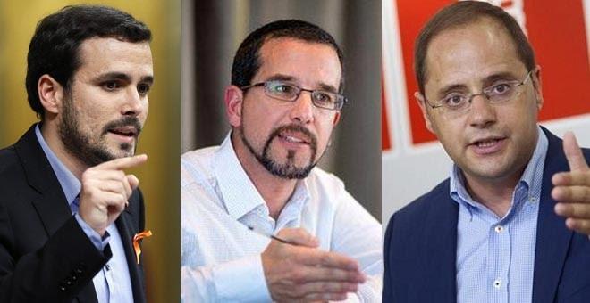 PSOE, Podemos e IU ponen a punto sus argumentos de cara a la reunión para negociar la investidura.