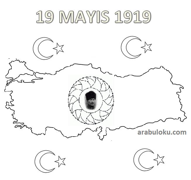19 Mayıs Boyama Sayfaları Arabulokucom