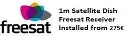 1m satellite dish installations for uk tv freesat costa blanca spain
