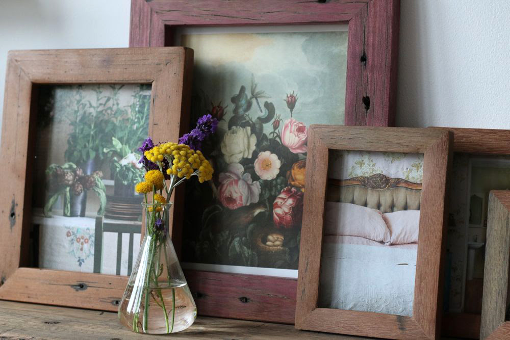 Handmade Reclaimed Wood Frames Lobster And Swan