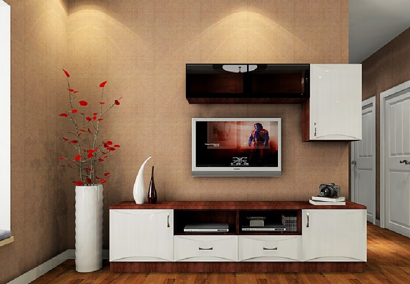 beautiful stylish lcd cabinet design and flower vase id973