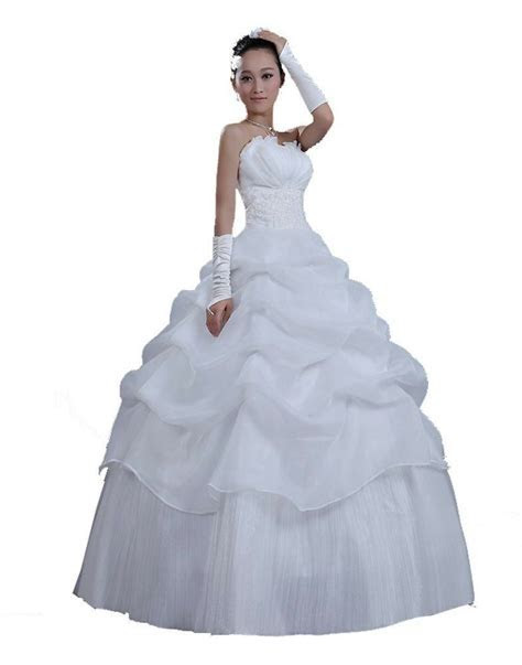 Cheap Good Quality Strapless Women's Wedding Dresses