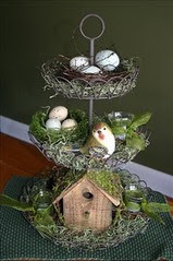 tiered baskets with nests