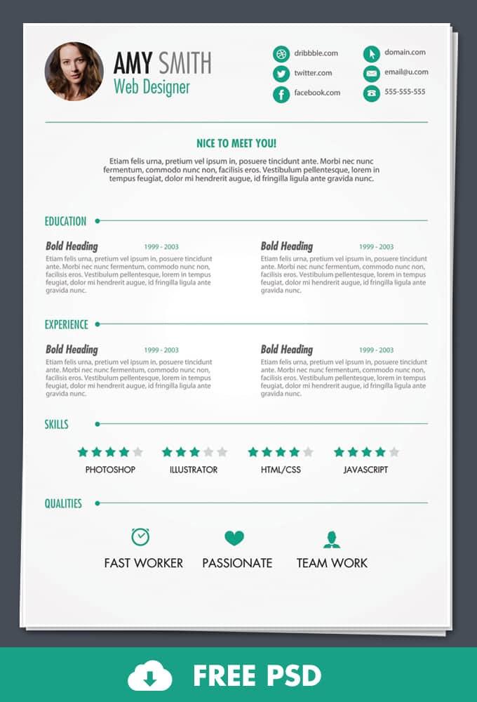 free template resume 30 free beautiful resume templates to - Free Template For Resume