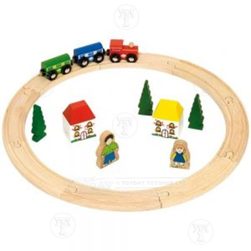 My First Wooden Train Set