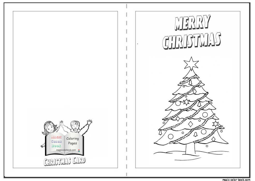 Christmas Card Coloring Pages Free - Coloring Home