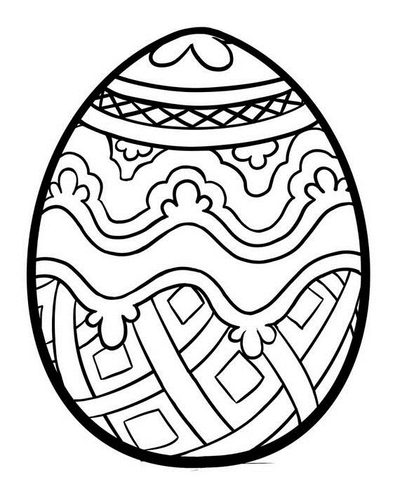 Printable Easter Egg Coloring Pages For Kids Coloring And Drawing