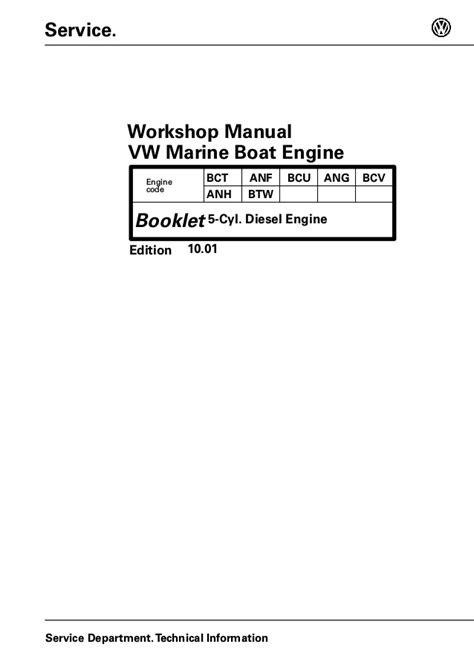 Volkswagen TDI 2.5L 150-5 Diesel Marine Engine Service