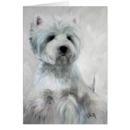 Westie West Highland Terrier Card