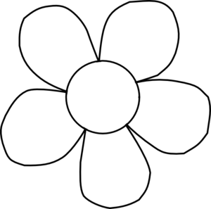 Black And White Outline Of A Flower Clip Art Library