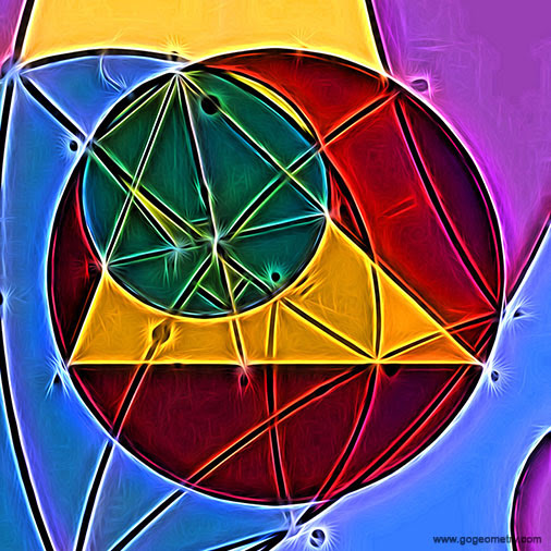 Geometry Art of Problem 1384, Triangle, Orthocenter, Circle, Angle Bisector, Perpendicular, Deform to Spiral, iPad Apps, Mobile