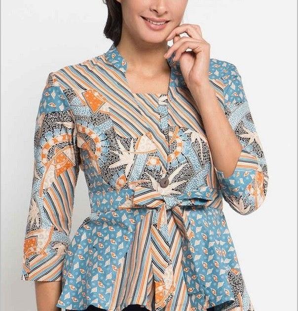 47+ Model Baju Batik Atasan Wanita Terbaru 2021 Trend ...