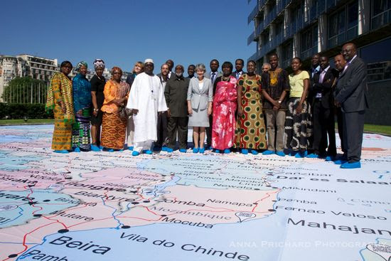 Foto oficial Inauguración Mapa Gigante
