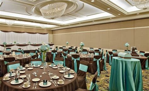 Wedding decor, chocolate brown & teal/aqua accents