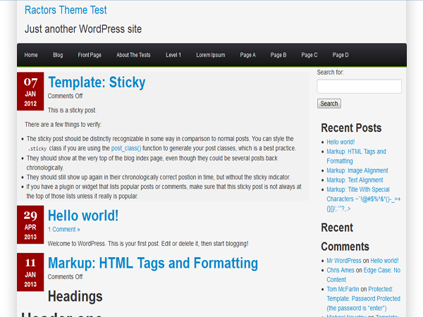 Ractopress Free WordPress Theme