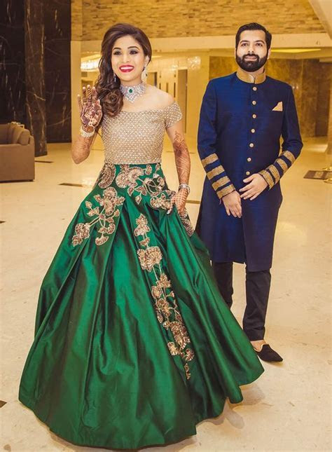 Heavy Work Royal Green Bridal Gown   Photo Gallery