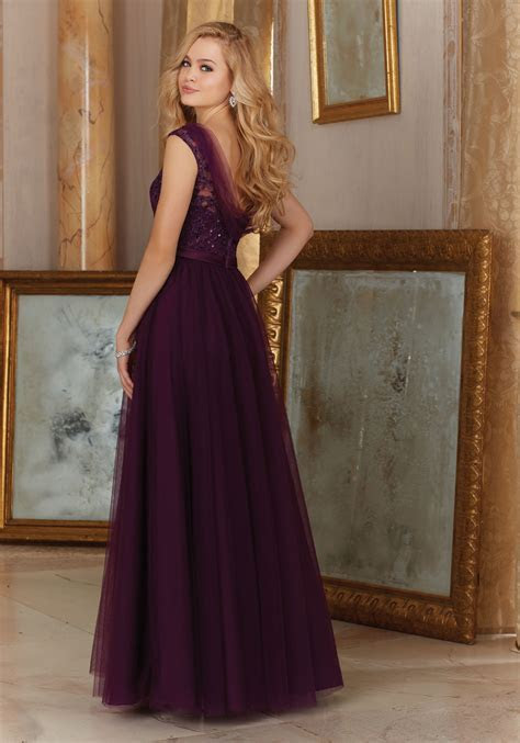 Stunning Tulle with Embroidery Bridesmaid Dress   Style