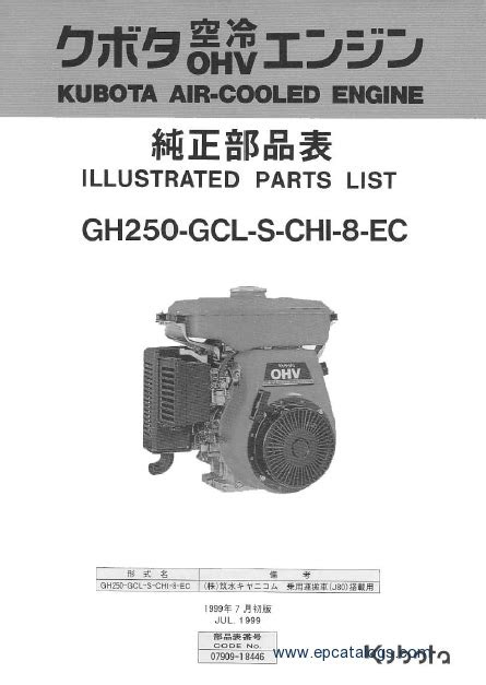 Kubota Engines Spare Parts Catalog Download
