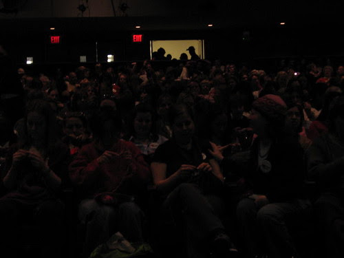 Capacity crowd in Haft Auditorium