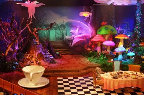 alice in wonderland theater set   Tea Time with Alice