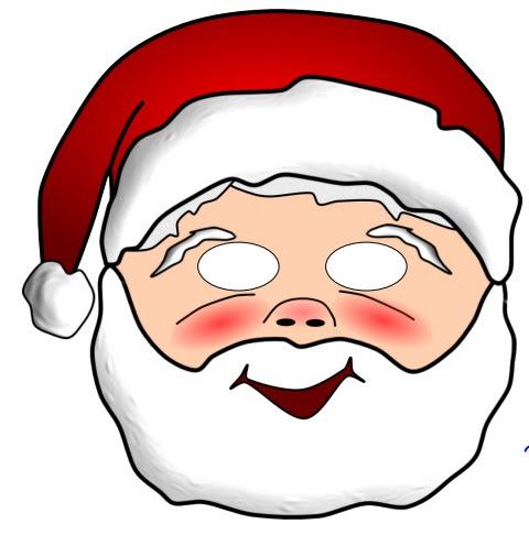 Kağıttan Noel Baba Maskesi
