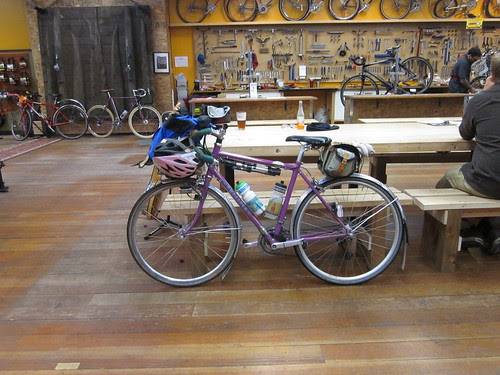 Sweetpea at Velo Cult, post-ride