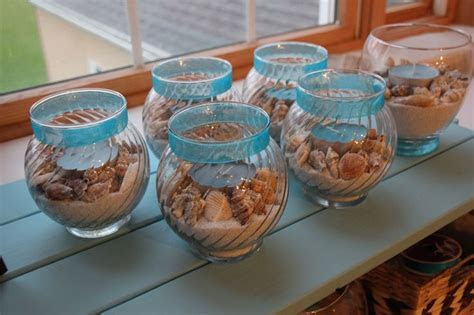 "DIY bridal shower ""beach"" centerpieces   Crafts"