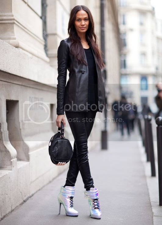 Harper's Bazaar Street Style 2012 - Joan Smalls