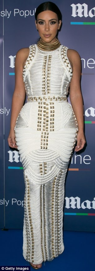 Check out Kim Kardashian's Balmain dress crafted out of Rope