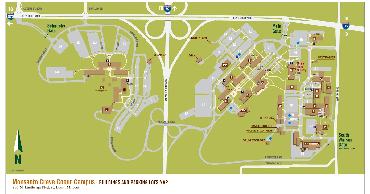 Monsanto Chesterfield Campus Map Global Map