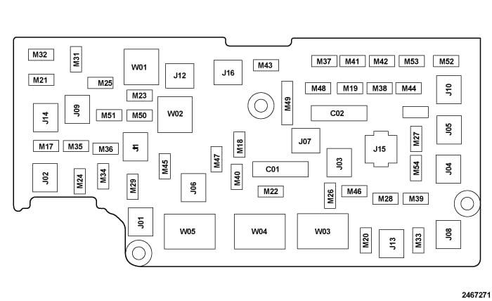 98 dodge ram 1500 fuse box diagram labeled