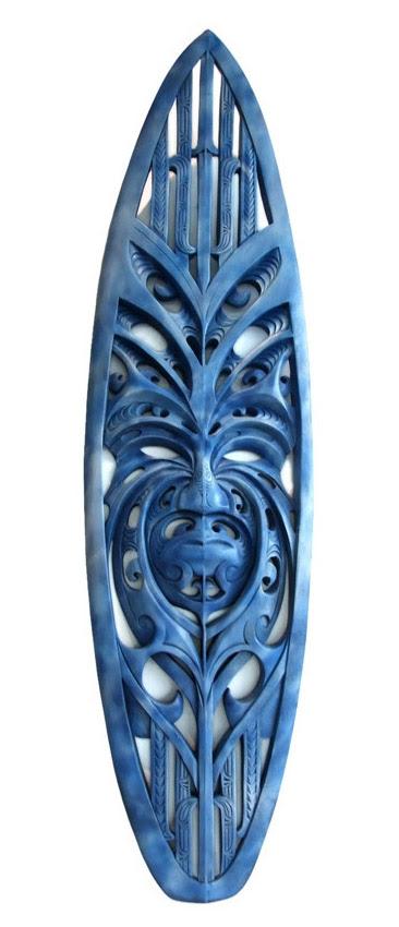 A Maori carved surfboard: an incredible artwork | Art Bino Smith