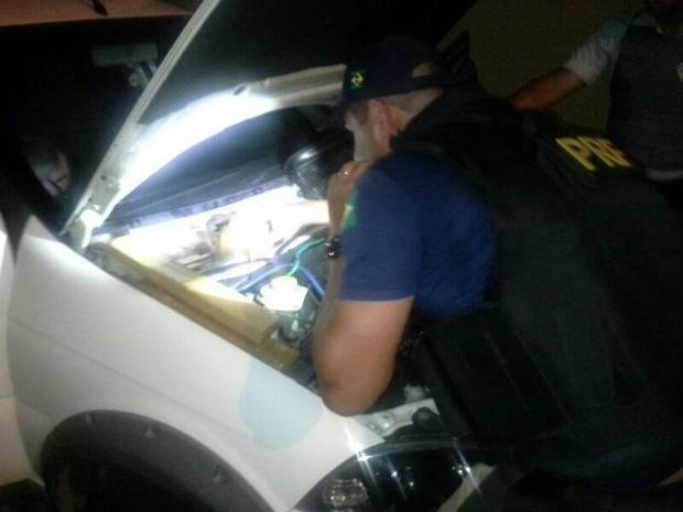 Motorista já tinha sido preso por tráfico de drogas, segundo PRF.  (Foto: Divulgação/PRF)
