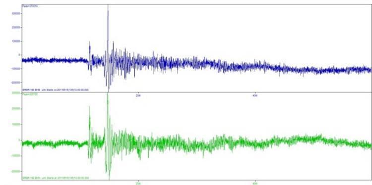 O terremoto foi registrado por volta das 10h de hoje
