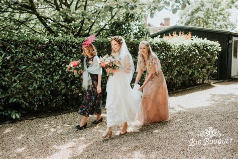 Larmer Tree Celebrant Wedding   Big Bouquet Wedding