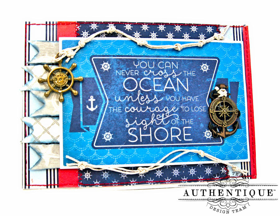 Nautical Themed Graduation Cards Seafarer by Kathy Clement Product by Authentique Photo 12