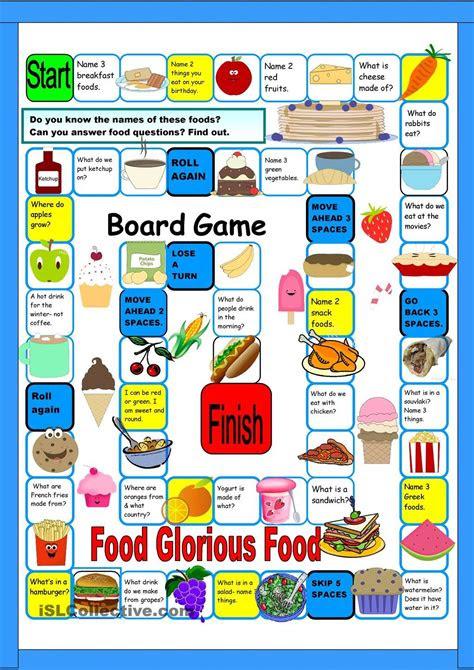 food boardgame juegos  aprender ingles juegos en