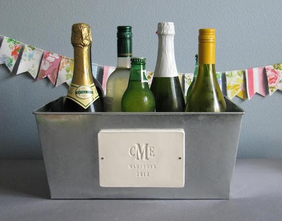 Personalized Wedding Gift - Large Champagne Tub