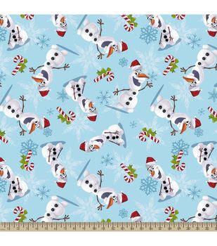 Holiday Inspirations Christmas Fabric- Christmas Frozen Olaf Plush