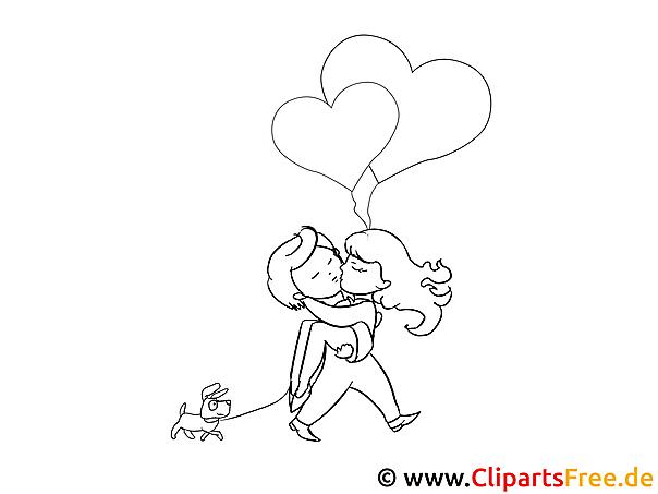 Liebe Ausmalbilder für Kinder kostenlos ausdrucken