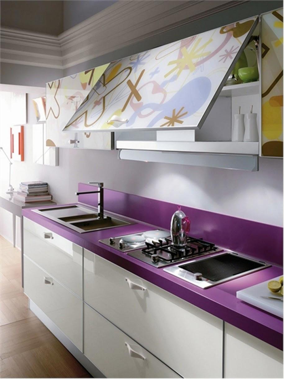 Purple Painting Kitchen Countertops Ideas #2660 Gallery (Photo 8 ...
