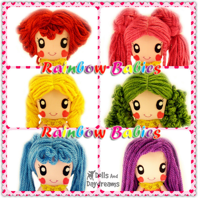 Anime Chibi Manga Girl Cute Doll Sewing Pattern Super Kawaii Japanese style Dolls And Daydreams copy
