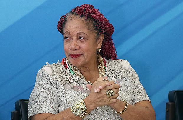 BRASÍLIA, DF, BRASIL, 03.02.2017 - A ministra de Direitos Humanos, Luislinda Valois, na cerimônia de sua posse no Palácio do Planalto, em Brasília (DF). (Foto: Alan Marques/Folhapress)