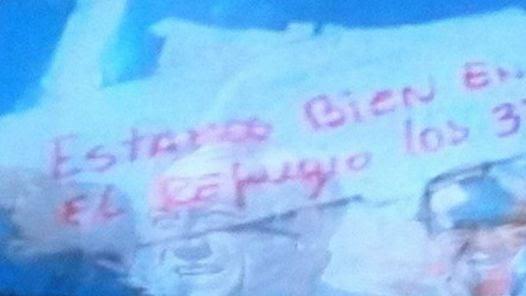 VIVOS. Una captura de la nota que llegó desde el fondo de la mina.