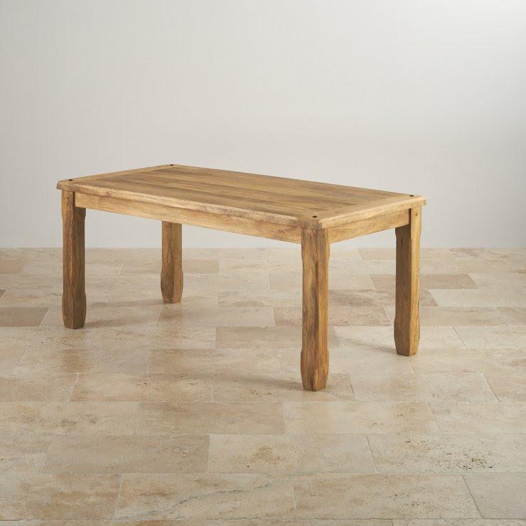Baku Light Dining Table in Natural Mango   6 Mango Chairs